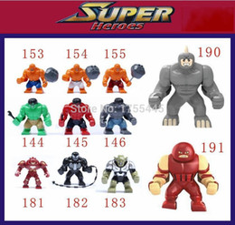Wholesale set Decool Super Heroes Big Hulk Thing Venom Hulk Buster Green Goblin Lazy Rhino juggernaut Building Brick Blocks