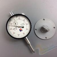 al por mayor indicador de cuadrante orificio-indicador de mayor-0-10 / 0,01 mm de línea reloj de medición a prueba de golpes con mesa de oreja de medidas Reloj Comparador orificio de calibre micrómetro