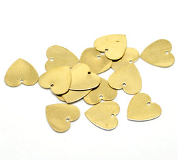 Wholesale-hot- 100PCs Brass Blank Stamping Tags Pendants Love Heart for Necklaces, Earrings, Bracelets etc (B18581) Jewelry Findings