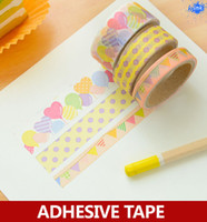 decorative tape - sets decorative washi paper tape set cute animal cat balloon dot flower masking tape for scrapbooking