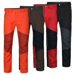Wholesale Elephant Brand Softech Traverse Pants Men Softshell Hiking Pants Waterproof Windproof Thermal For Hiking Camping Ski MT477