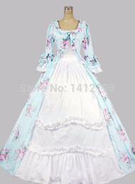 Wholesale Brand New Floral Print Gothic Victorian Ball Gowns Southern Belle Party Dresses