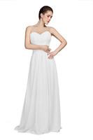 best designer bridesmaid dresses - Best Sale Scoop Neck Beaded Sequin Pleats Elegant Custom Made Floor length Chiffon Long Prom Party Designer Bridesmaid Dresses