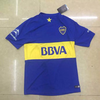 Wholesale DHL Top Thailand Quality Season Club Atlético Boca Juniors Home Blue Shirt Jersey