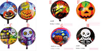 aluminium skull - 2015 new Halloween Gift Pumpkin head Skull foil balloons baby toys shape Party supplies decorations designs C108
