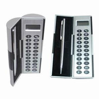 Wholesale Magic Box Calculator function send metal pen Metal panel calculator
