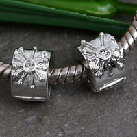 Wholesale 200pcs silver plated stopper beads charms fit biagi bracelets