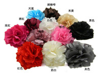 Wholesale 50pcs newest hair accessories Lady style Flower hair clips Brooch mix colors