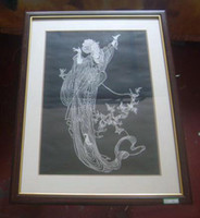 Wholesale Chinese Handicraft Scissor cut Flying Folk Art Colourful Paper cut Picture Frame