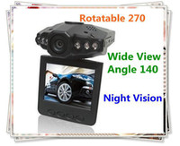 Wholesale Vehicle DVR HD Rotable inch Color LCD Car DVR Degree Lens Night Version DV Black
