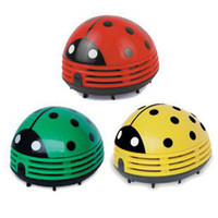 Wholesale 3 colors Ladybug cleaner mini desktop vacuum cleaner keyboard cleaner