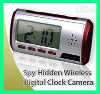 Wholesale Spy Hidden Camera Clock Mega with Remote ControL Motion Detection FPS China Post