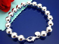 bead gift items - Fashion Silver multi Hollow beads bracelets MM inch cm items per