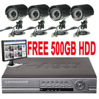 Wholesale 36LED Waterproof Camera GB NETWORK DVR CCTV System