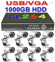 Wholesale 8 Sony CCD CCTV cameras H Net DVR Home security TB HDD Mibile phone accress