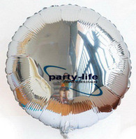 Wholesale 18 inch silver round shape HELIUM Foil Balloons For Wedding Party Birthday party