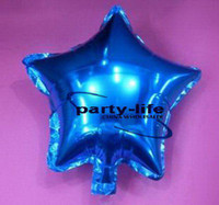 Wholesale 18 inch Blue Star shape HELIUM Foil Balloons For Wedding Party Birthday party