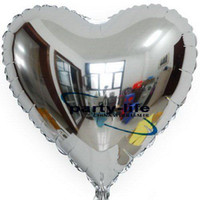 Wholesale 18 inch silver heart shape HELIUM Foil Balloons For Wedding Party Birthday party