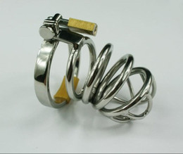 Wholesale Male STAINLESS STEEL CHASTITY DEVICE BONDAGE FETISH CHASTITY Gay SM Fetish