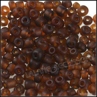 Glass seed bead - Glass Mini Seed Beads Charms Coffee Frosted Jewelry Making Beading Findings g