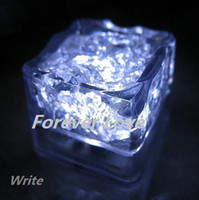 Wholesale 12 White LED Ice Cube Light Wedding Party Christmas Decorations Supplies
