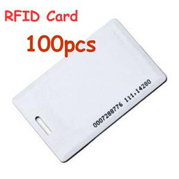 Wholesale 1 mm Khz Thickness RFID ID Proximity Cards White