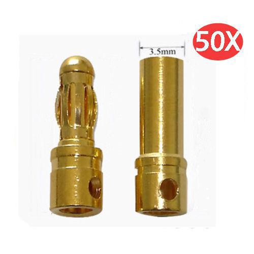 EL SISTEMA DE RADIO CONTROL 50-x-3-5mm-connector-rc-brushless-motor-esc