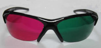 Wholesale Red magenta Green cyan Anaglyph D GLASSES Semi framed glasses Spherical lens for movie game