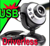 Wholesale USB Driverless Wedcam Web Cam Camera PC Laptop win7 mic LED bits CMOS sensor Plug amp Player