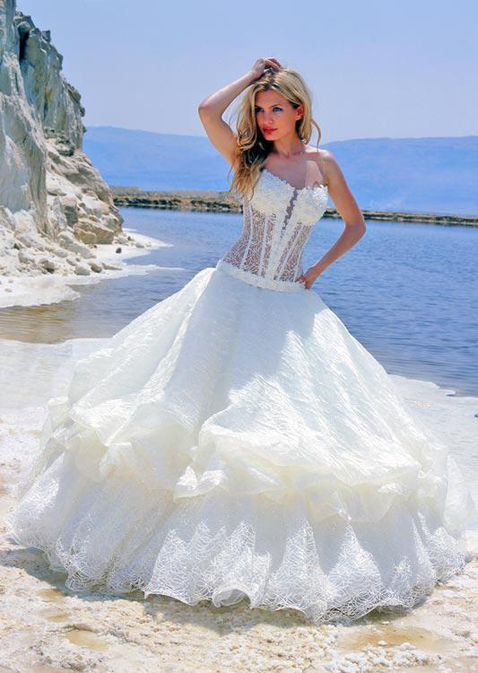 New Fashion Design Strapless Lace Beach Wedding Dresses Vintage ...