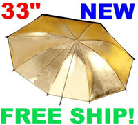 Wholesale 33 Black Gold Reflective Umbrella for studio Flash