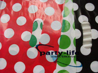 Wholesale 150pcs mix color With White Dot Plastic Carrier Bags Plastic Shopping Bags Clothes Packing Bags Gif