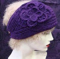 Wholesale Handmade Knit Crochet Wide Headband Flower Handmade Knit Crochet Wide Headband Flower new