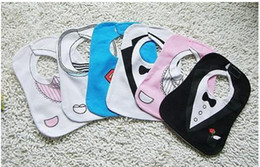 Wholesale Monril BLACK WHITE TUXEDO SUPERMAN BABY FEEDING BIBS EATING design