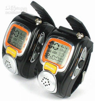 Wholesale pai r Walkie talkie Wrist Watch Built in Microphone Freetalker