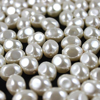 Wholesale 1000pcs mm nature pearl bead irregular facetecream pearl bead fit for charm necklace bracelet