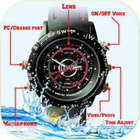 Wholesale watch hidden waterproof watch dvr camera GB hd video amp sound watch watch recorder
