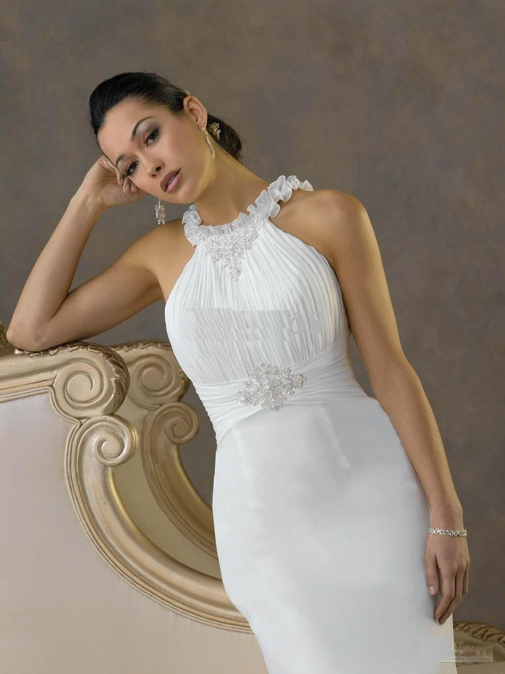 2011 spaghetti gown empire bodice and cinched waist beaded for Cinched waist wedding dress