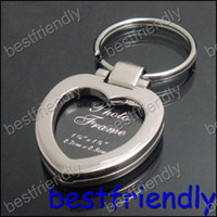 Wholesale 50pcs New Alloy heart photo picture frame Women s key chain Chains ring keyring keychain keyrings