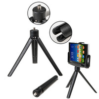 Wholesale 2015 Mini Stainless Steel Tripod SLR Camera Ball Head Cell Phone Portable Travel Folded Max Loading kg
