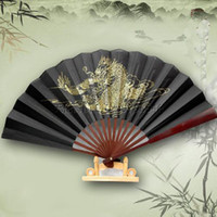 decorative fans - Chinese Fan Props Fan Foldable Fan Silk Hand Fan Decorative Fan Fashion Men s Fan Free