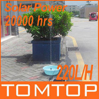Wholesale 220L H V W Solar Power Brushless Pump For Water Cycle Pond Fountain Rockery Fountain Outdoor