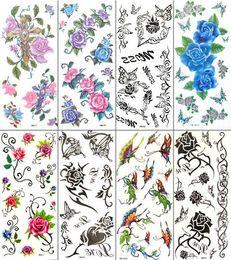 Wholesale Temporary tattoo Waterproof body tattoo stickers beautiful mix designs pieces YM