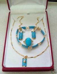 Pendiente de turquesa pendiente collar pendiente conjunto de anillo desde pendientes de turquesa juego de anillos fabricantes