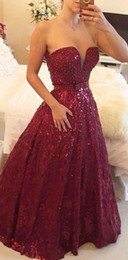 Strapless Burgundy Evening Dresses 2015 Princess Gorgeous Lace Prom Gown With Sequins Wine Red For Pageant