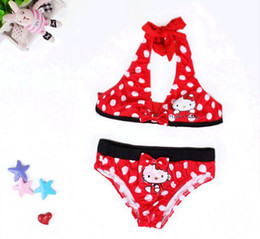 New Arriva Girls Bikini Hello Kitty Swiming Wear Kids Two Pieces Outfit Kids Swimsuits Childrens Swimwear Swim Wear Cute Clothing For Baby