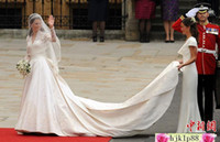 wedding dresses 2011 - 2011 New Arrivals Sexy Long Sleeves V neck Prince William amp kate Wedding dresses