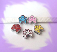 Wholesale 50pcs mm Skull Slide Charms Dog Fit Pet Collar