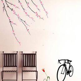 Wholesale BARGAIN HQ Wall Deco Sticker Cherry Blossom Bike