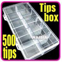 box art boxes storage - 500 NAIL ART TIPS COMPARTMENTS STORAGE BOX CASE
